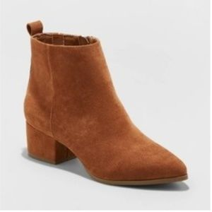 A New Day Size 8 Brown Heeled Ankle Boots